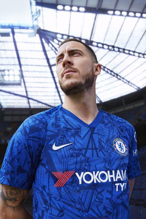 finest selection 5276d 49d9d Chelsea introduce 2019-20 home kit with Eden Hazard front ...