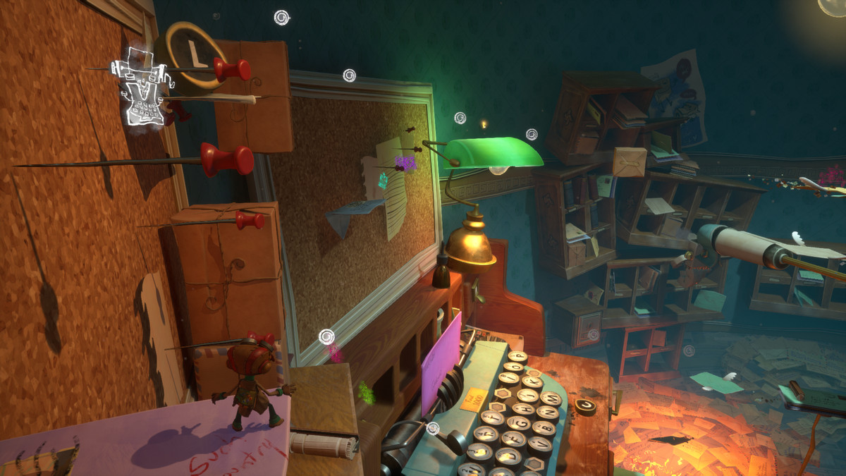 A cluttered mailroom in Psychonauts 2