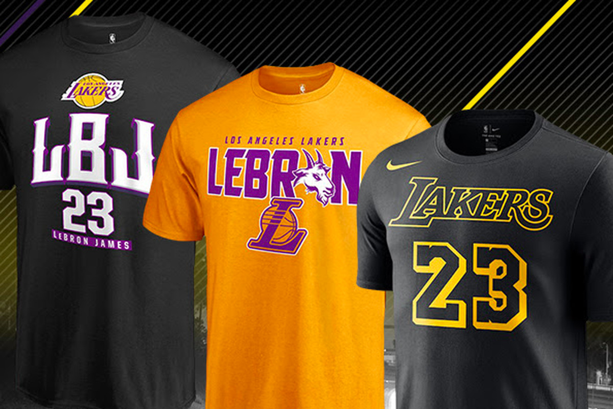 save off 5d53e 47700 NBA store begins selling LeBron James Lakers gear - Silver ...