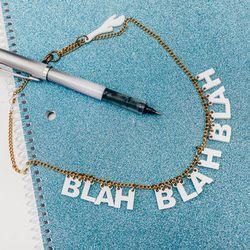 "<b>The Pick:</b> 'Blah Blah Blah' necklace, <a href=""http://www.internationalplayground.com/women/accessories/jewelry/i-still-love-you-nyc-petit-blah-blah-blah-necklace.html"">$45</a>"