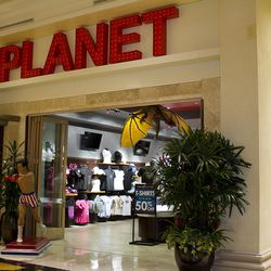 The gift shop at Planet Hollywood Restaurant & Bar.