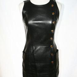 Vintage Chanel lambskin leather mini dress, $4000