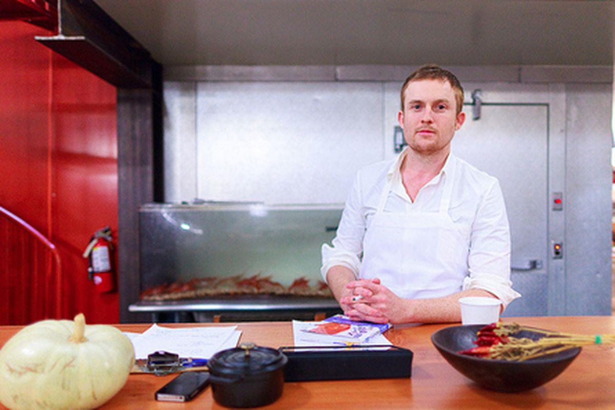 Josh Skenes in the kitchen at Saison.