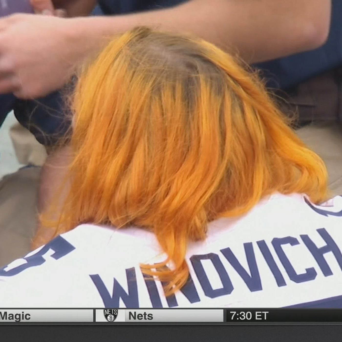 Michigans Orange Hair At The Outback Bowl Is For A Great Cause