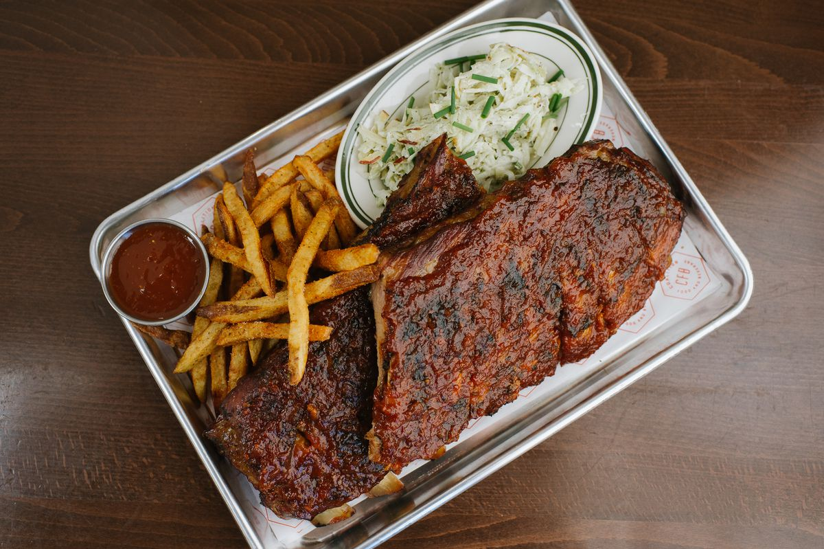 St. Louis style barbecue ribs