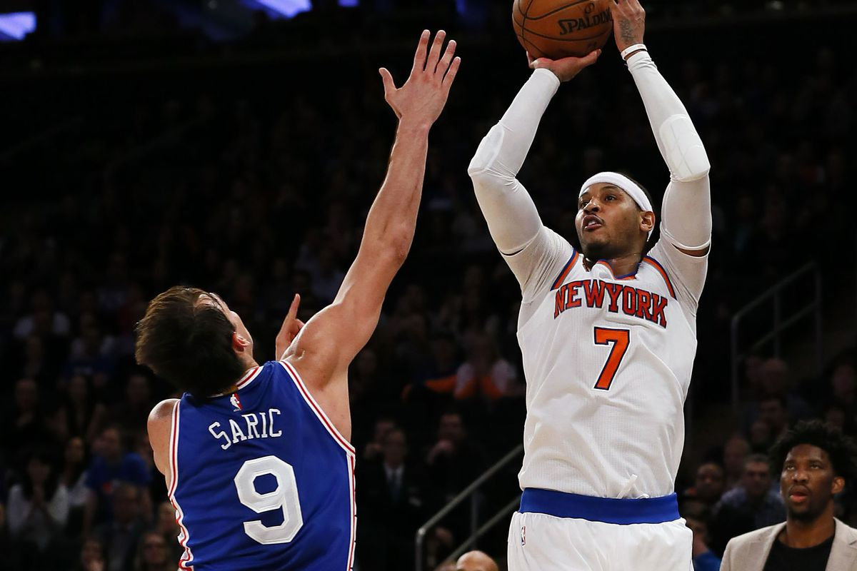 Carmelo Anthony beat the Sixers with a game-winning jump shot ...