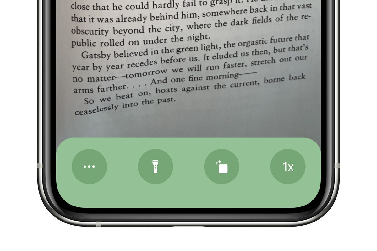 A screenshot of the app that shows it acting as an overhead camera