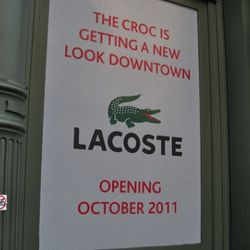 Lacoste in cast iron at 541 Broadway.