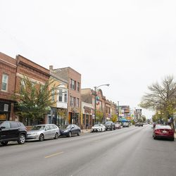 A view down North Milwaukee Avenue, one of the main streets that runs through Avondale.   Tyler LaRiviere/Sun-Times