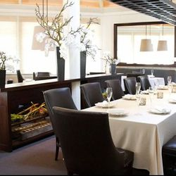 The 44-seat dining room's new, modern look