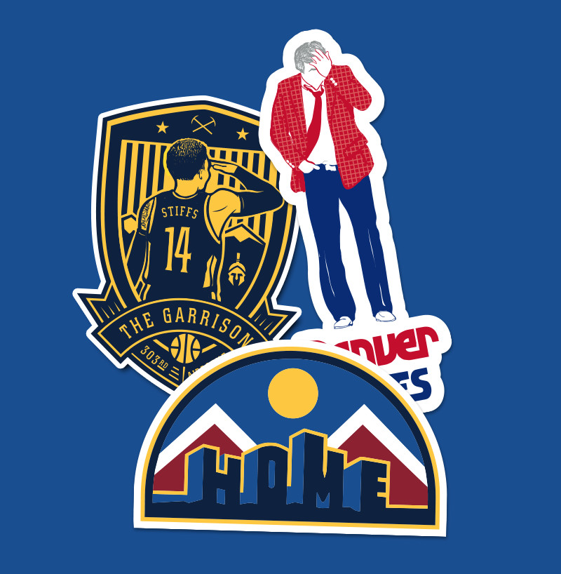 """The New Denver Nuggets """"HOME"""" T-shirt From D-Line CO Is"""