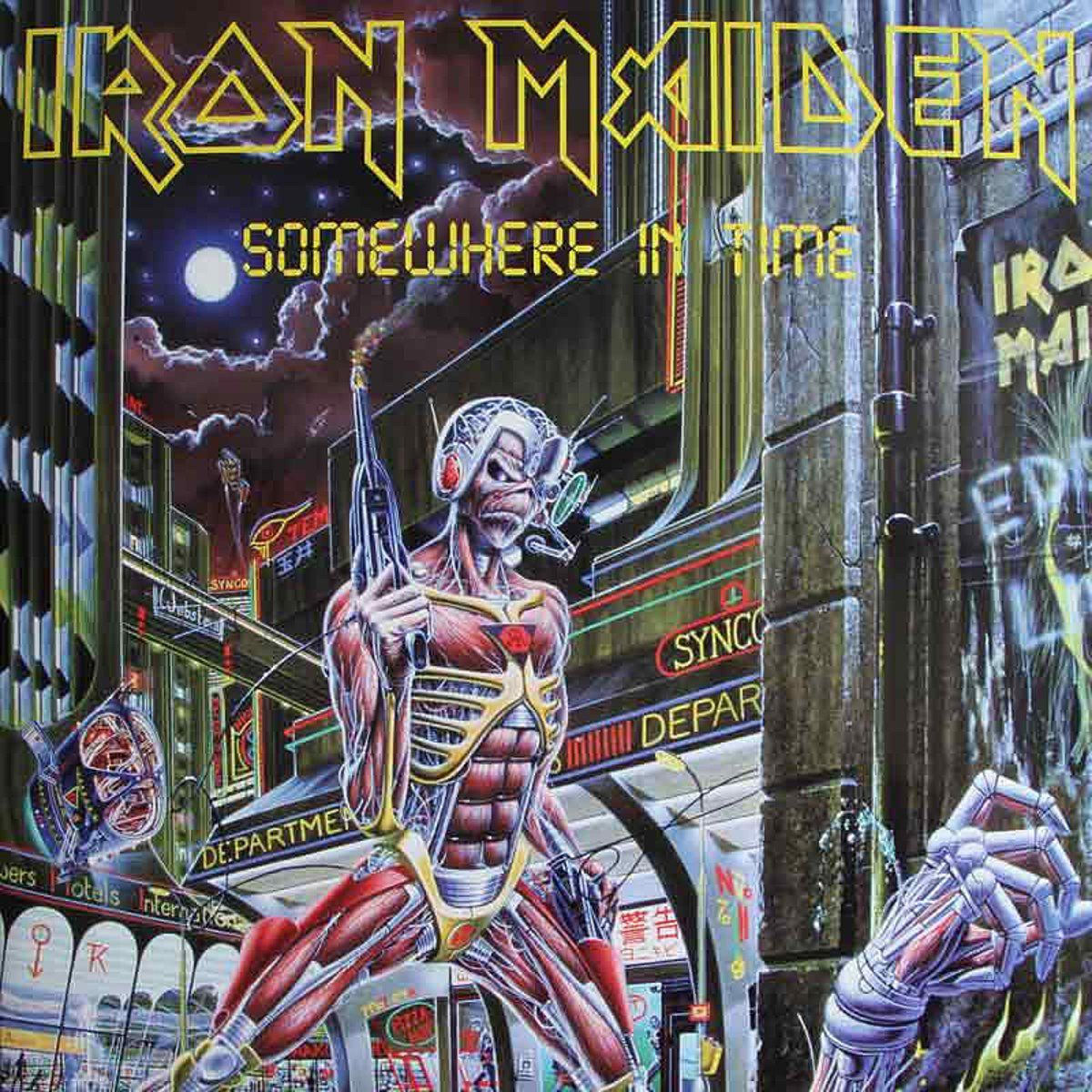 Iron Maiden's Somewhere in Time album cover