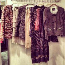"A rack of Isabel Marant at The Closet. Photo via <a href=""http://blog.closetboston.com/"">The Closet Boston Blog</a>."