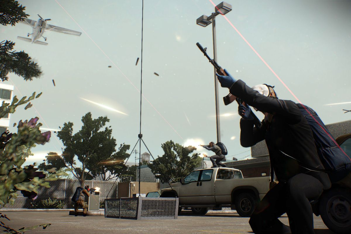 Payday 2 firing into the sky