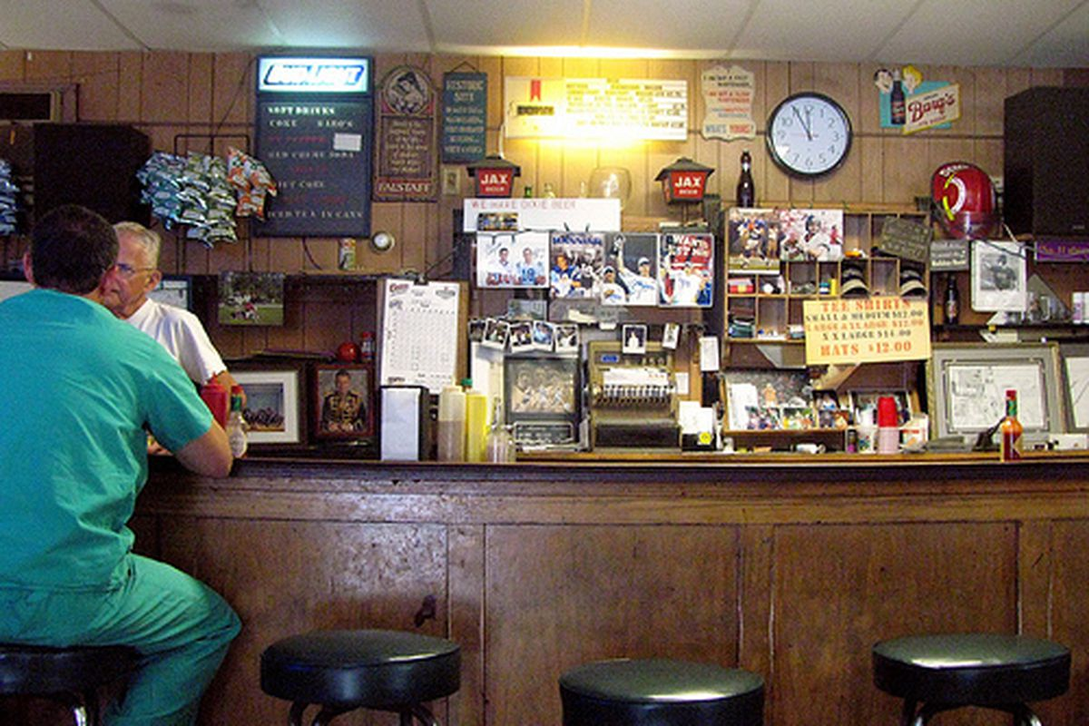 The bar at Domilise's.