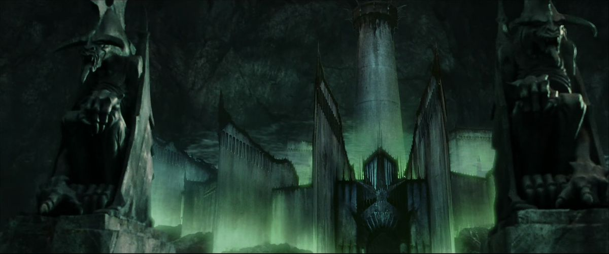 Minas Morgul, the sickly green castle of the Witch-King of Angmar in The Return of the King.