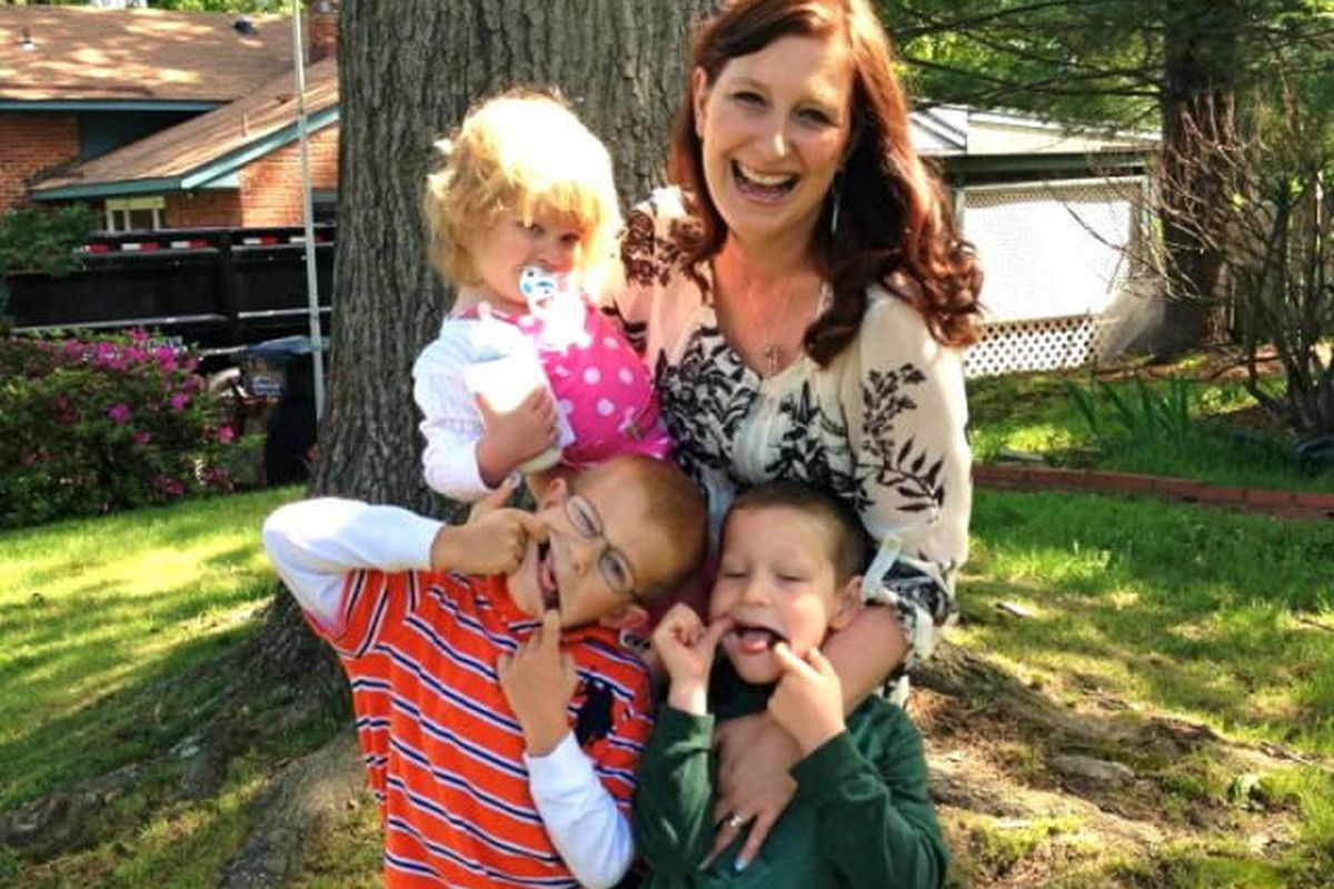 The author, Lisa-Jo Baker, and her three children.