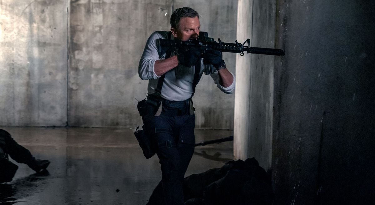James Bond with a gun.
