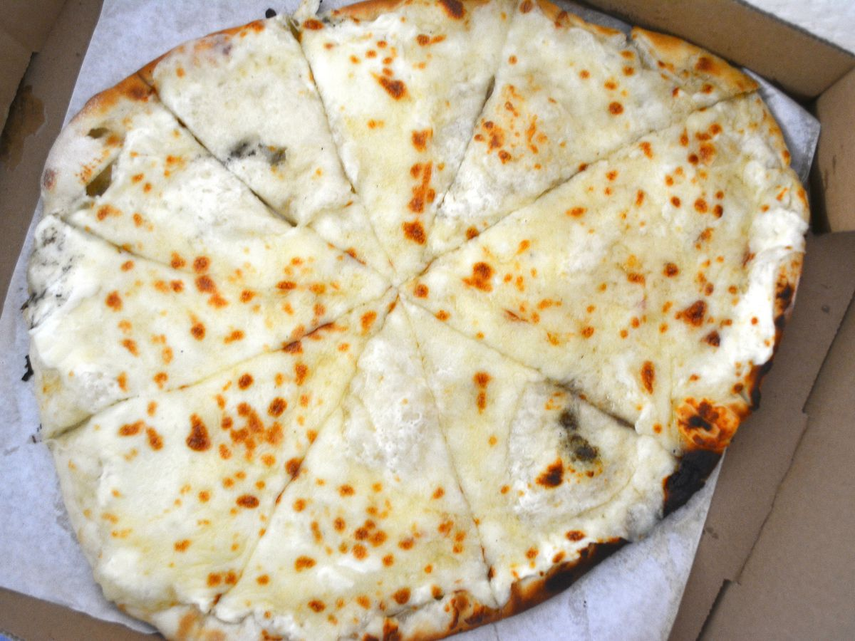 Lebanese flatbread with cheese and honey