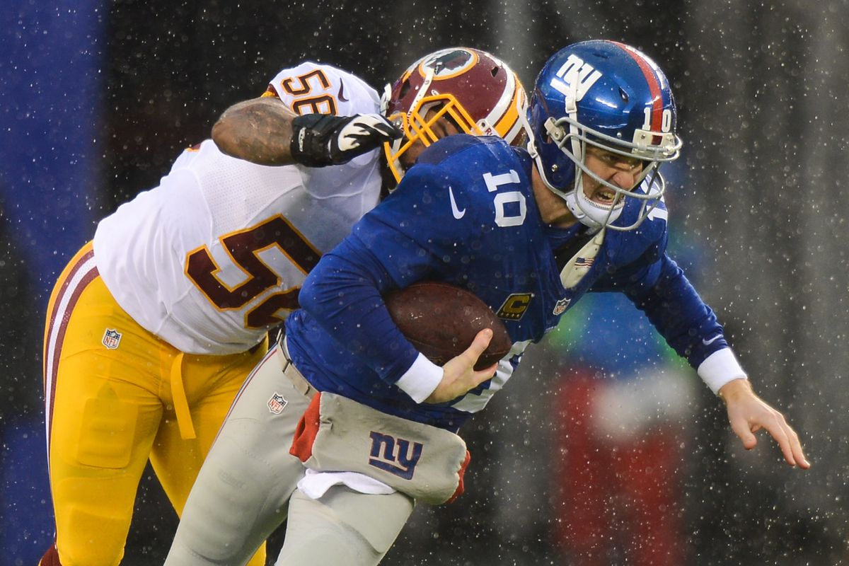 This is the play Eli Manning was injured on