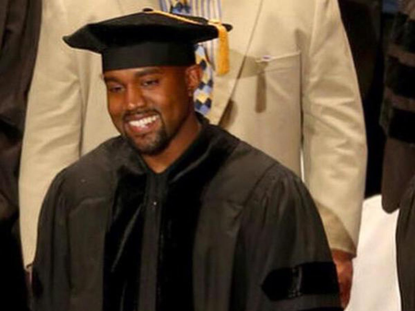 Kanye West Smiling in a Cap and Gown Will Make Your Heart Melt - Racked