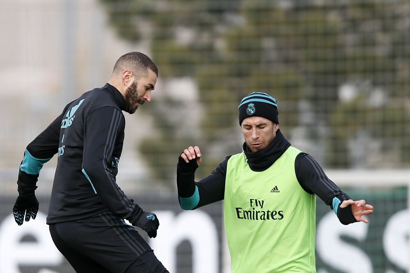 Ramos, Benzema train with Real Madrid, will be available against Sevilla