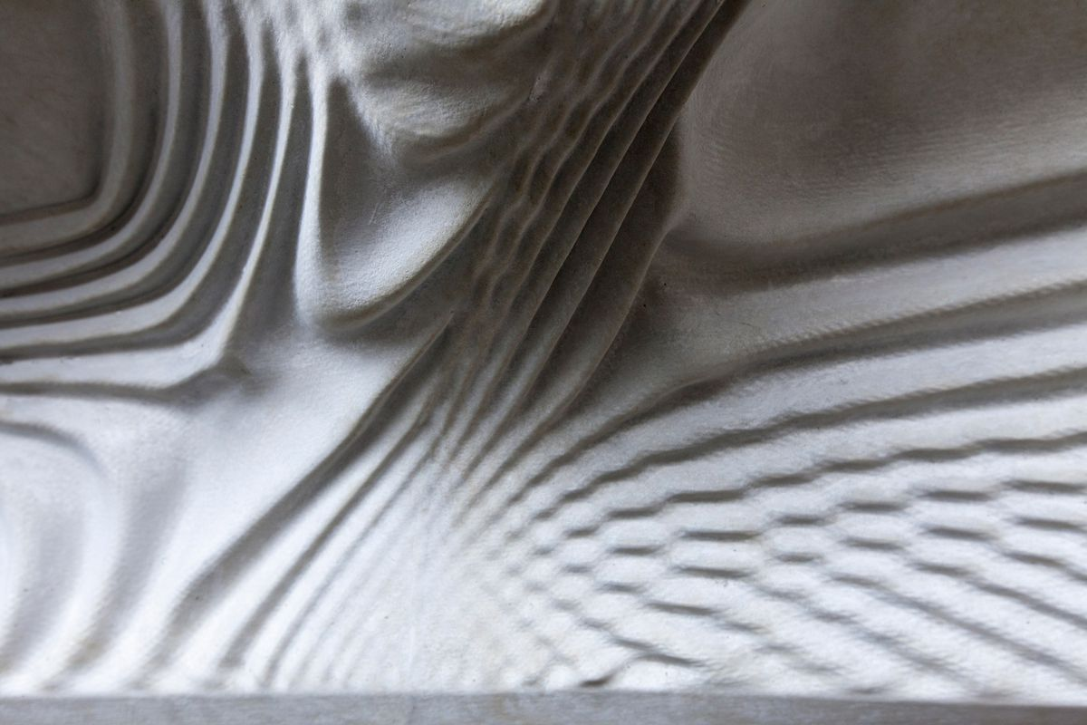 Close up of concrete with ripple pattern