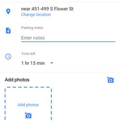 You can add a photo of your parking place, just to make sure you recognize it.
