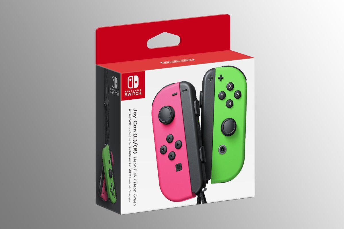 Nintendo Switch Joy-Con box - Neon Pink and Neon Green
