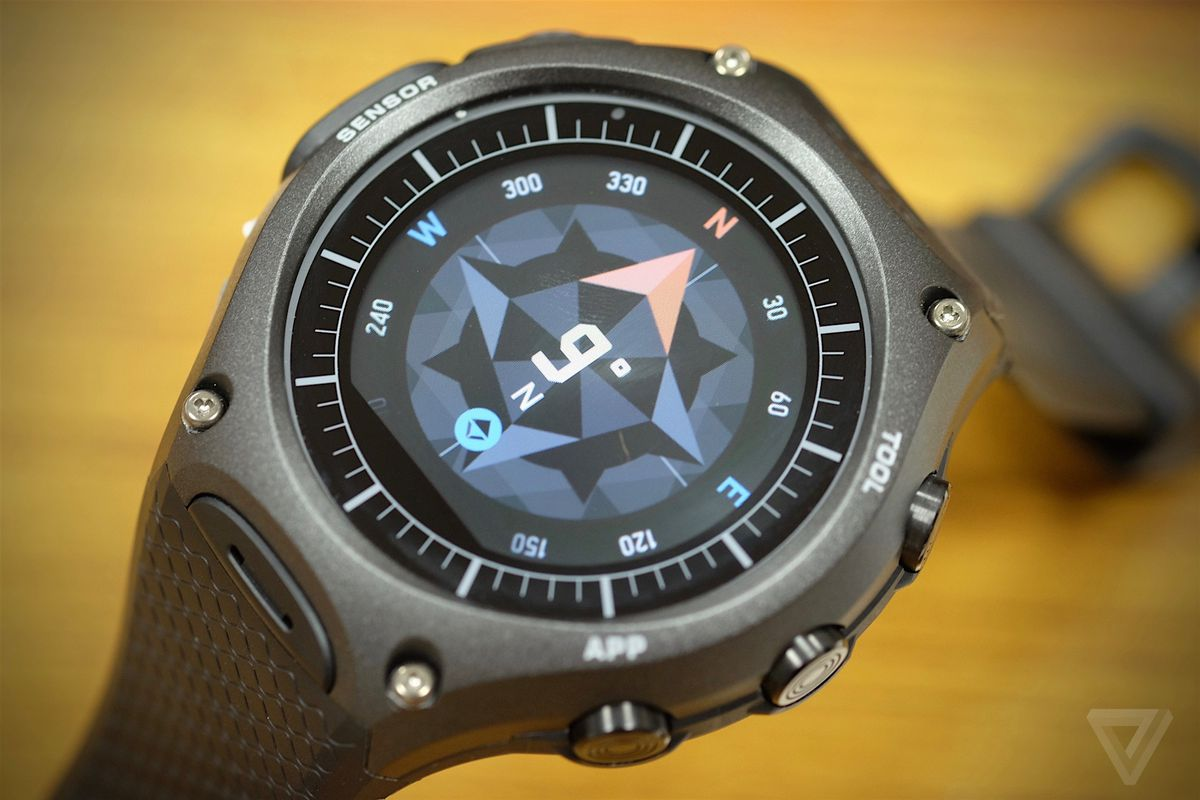 casio sg hands slashgear rug watch huge smartwatch wear rugged and ces android on
