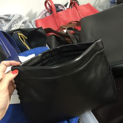 Small leather clutch, $90