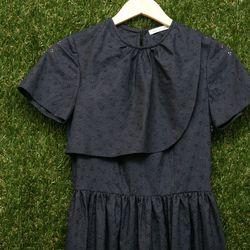 Karie Laks eyelet bib dress, $315