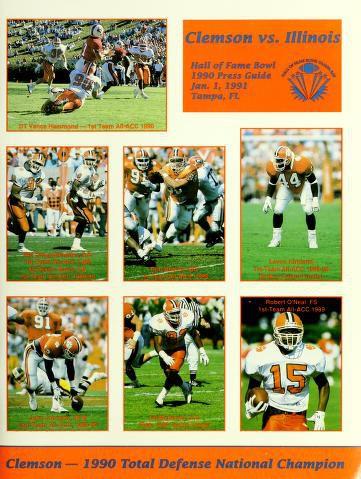 1991 Hall of Fame Bowl Media Guide