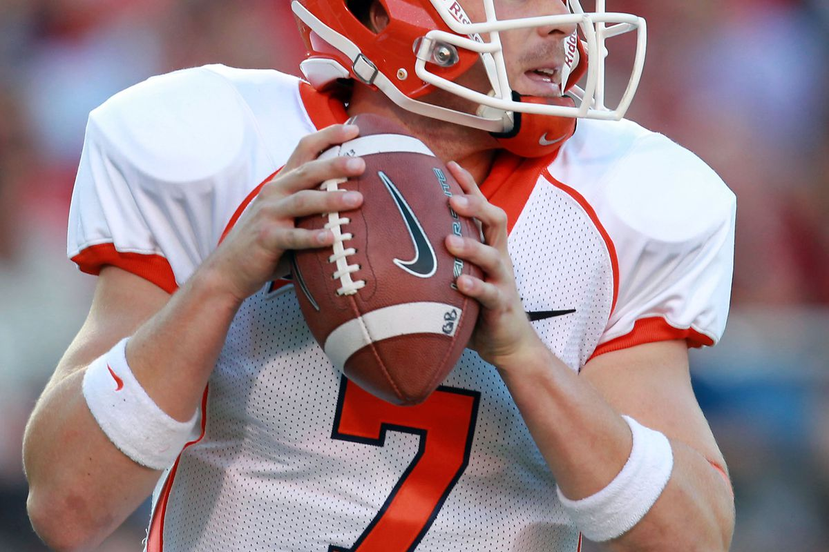Sept 8, 2012; Oxford, MS, USA;  UTEP Miners quarterback Nick Lamaison (7) drops back to pass against the Mississippi Rebels at Vaught-Hemingway Stadium. Mandatory Credit: Marvin Gentry-US PRESSWIRE