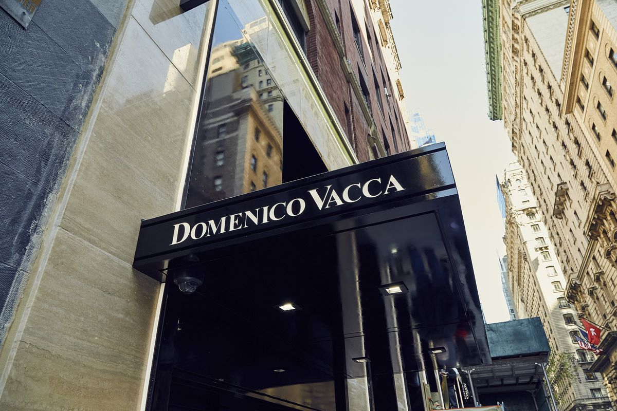 The Domenico Vacca storefront off of Fifth Avenue in New York City.