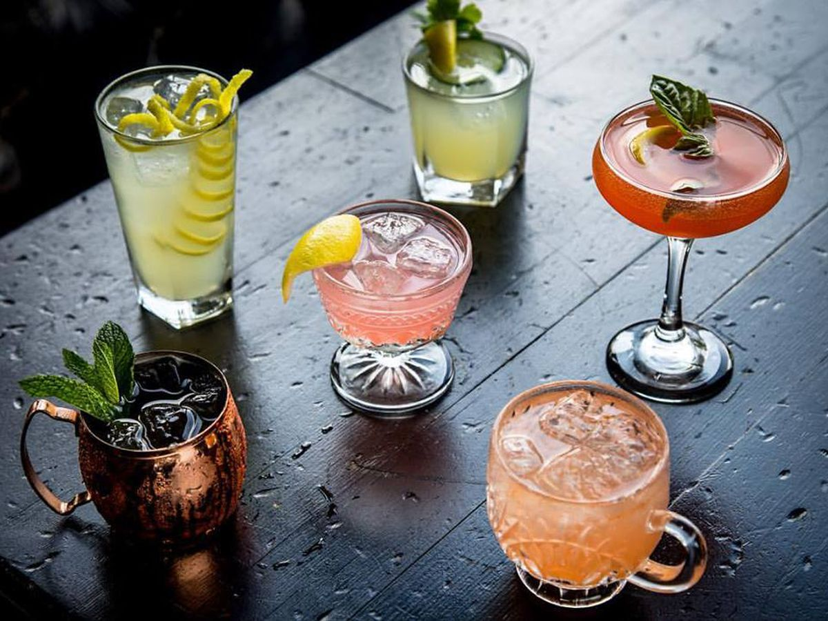 Pretty little cocktails at Stone's Throw