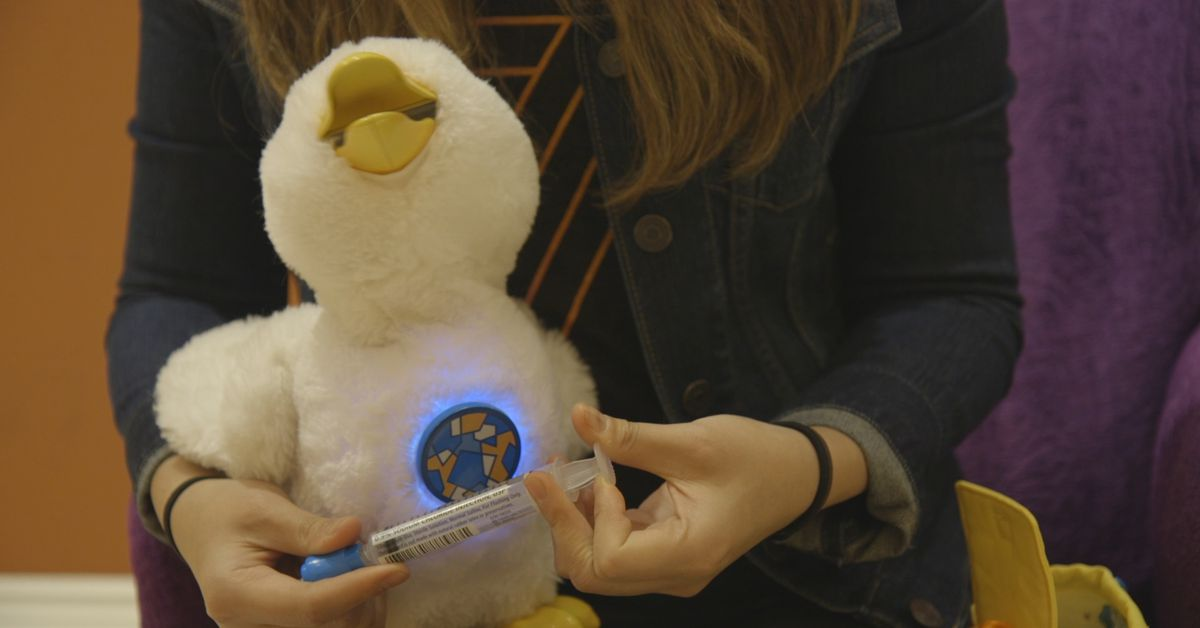 aflac�s toy robot for kids facing cancer is the smartest
