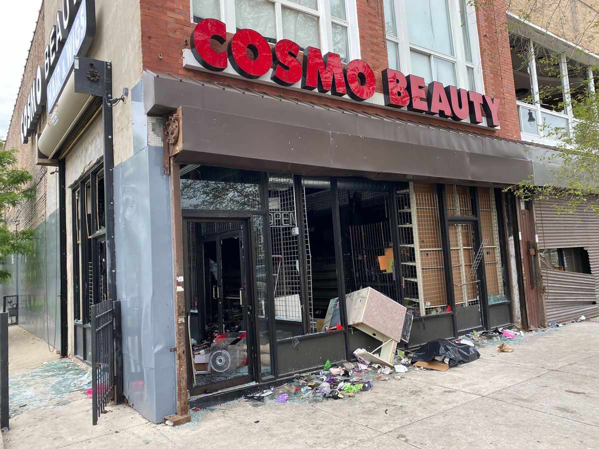 The Cosmo Beauty store at 4109 W Madison St. was among the West Side businesses looted on Sunday, May 31, 2020.