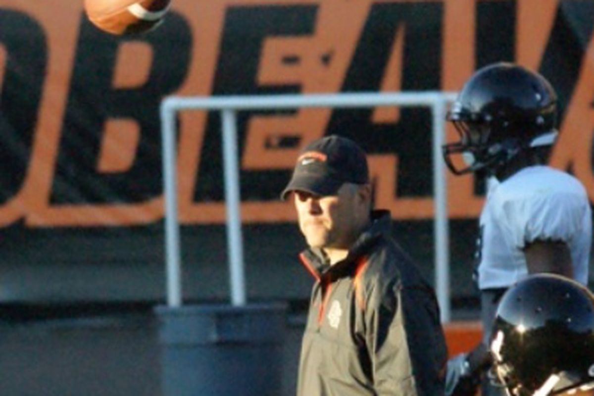 Oregon St. offensive coordinator and quarterbacks coach has gone pro, joining the New York Giants.
