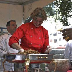 James Beard Award–winner Michelle Bernstein making veal sweetbreads