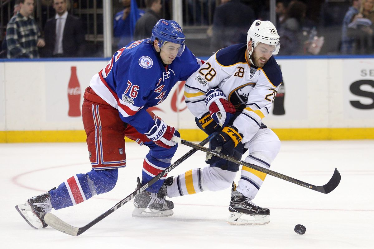 NHL: Buffalo Sabres at New York Rangers