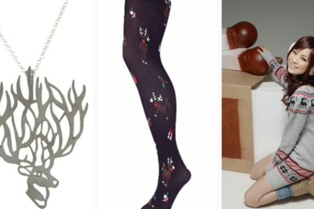 """We knew we should have kept our 80's wardrobe. Images via <a href=""""http://www.style-eyes-fashion-blog.com/2009/11/rudolph-and-reindeer-fashion.html"""">Style Eyes</a>."""