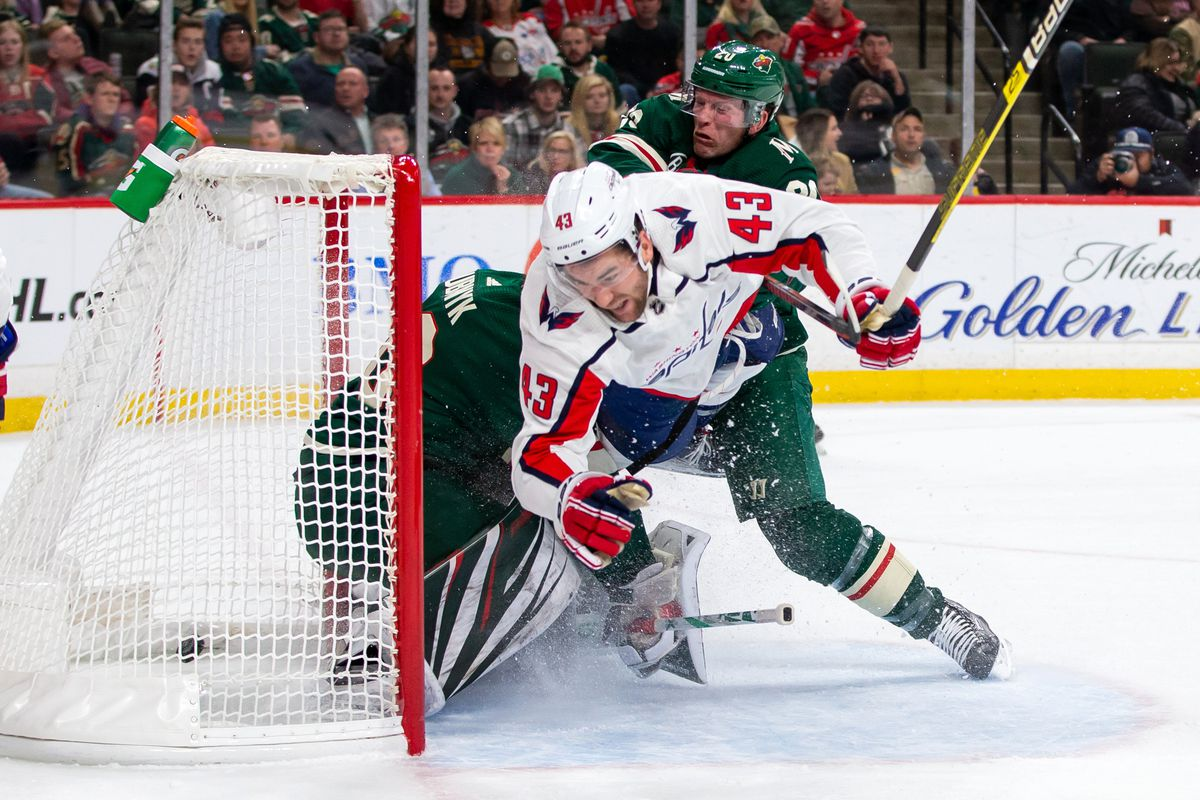2cc2e344487 Newly returned and un-suspended Tom Wilson made an impact in his first game  back as the Wild lost to the Capitals