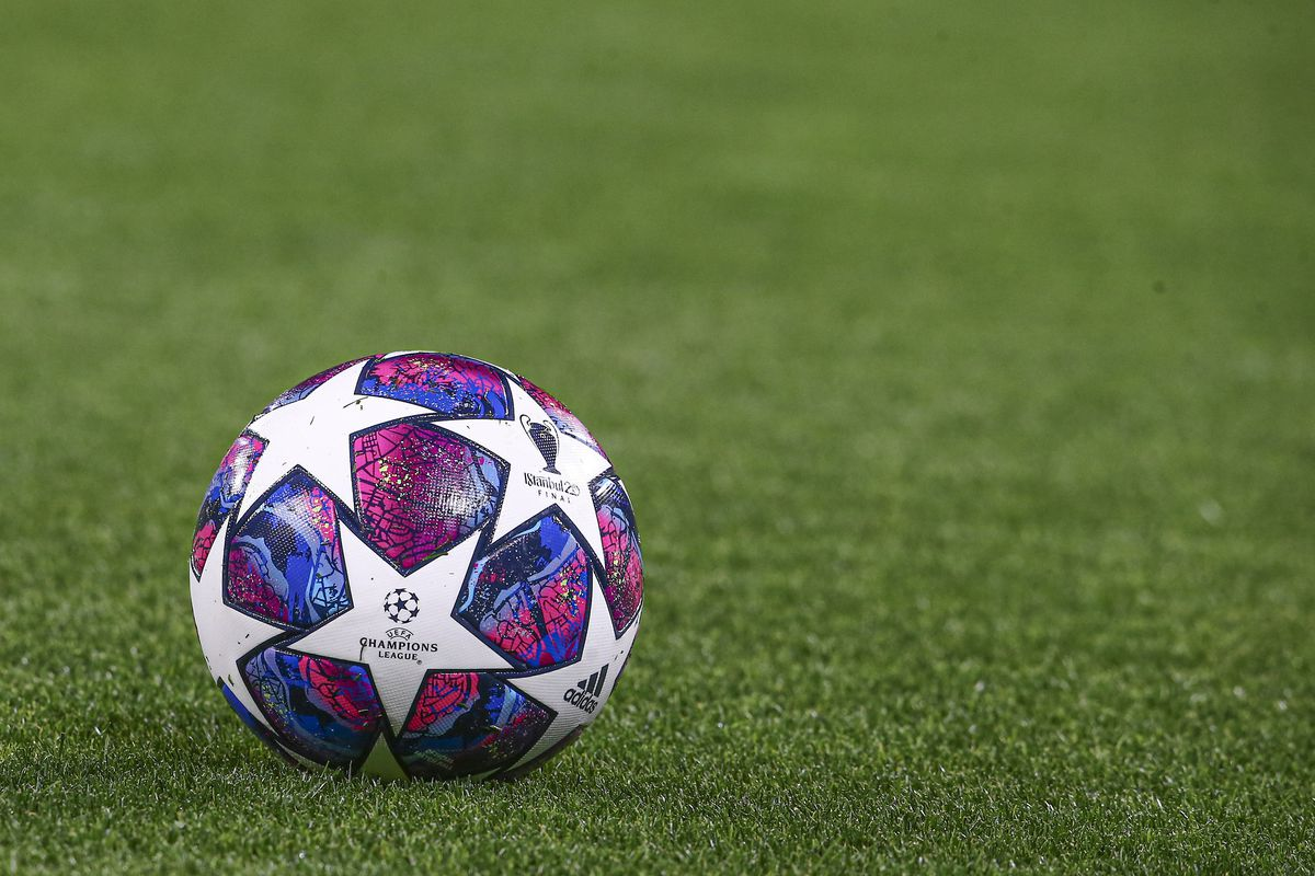 The officaial football of the Uefa Champions League final...