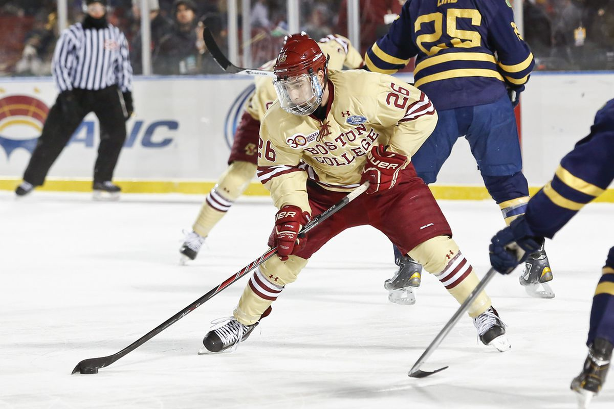 Austin Cangelosi had a goal and an assist for Boston College.