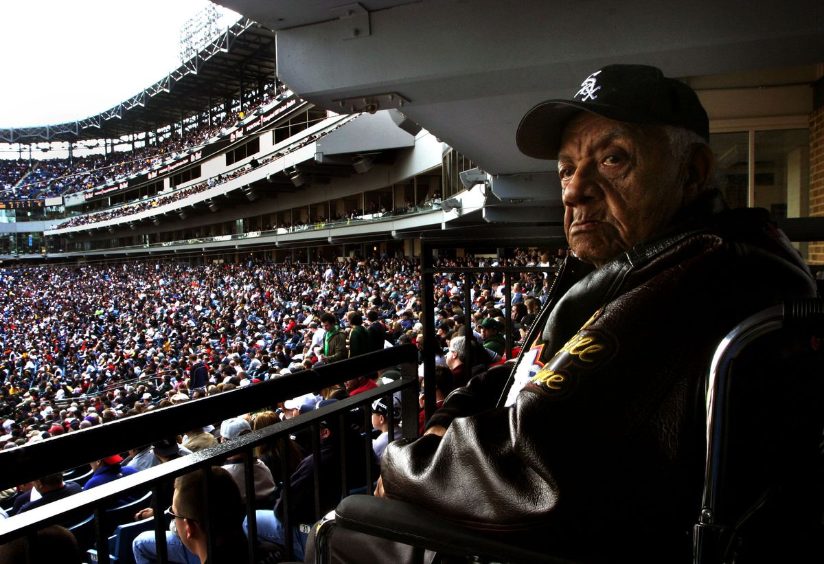 """04/3/2005 Ted """"Double Duty"""" Radcliffe, at 102 years old, is"""