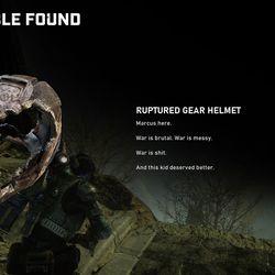 Collectible 2: Ruptured gear helmet