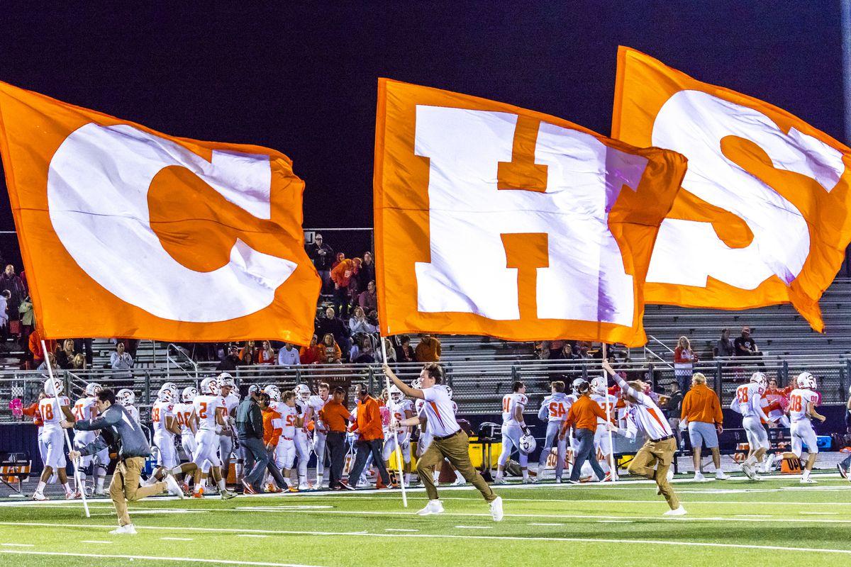 Celina Cheerleaders at high school football game - Paris Wildcats win over Celina Bobcats 54-7 in High School Football Game