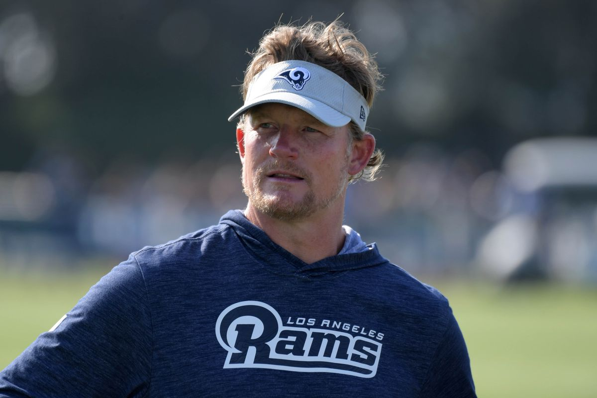 Los Angeles Rams General Manager Les Snead at training camp, Jul. 28, 2018.