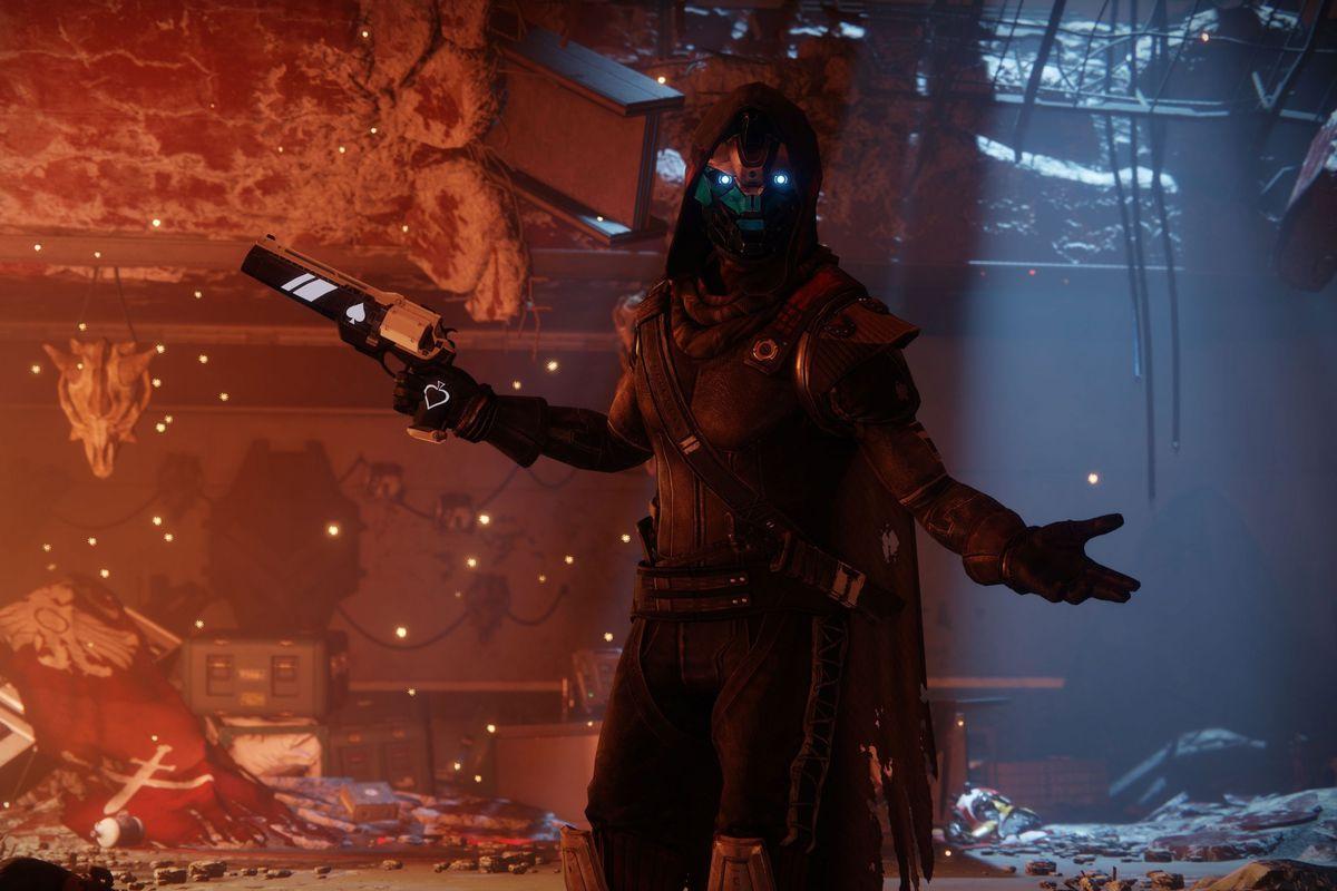 A screenshot of Cayde-6 in Destiny 2
